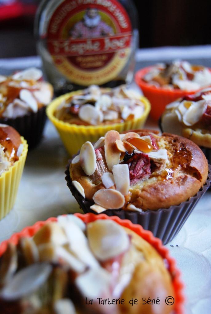 cupcake rhubarbe et sirop d'érable 1