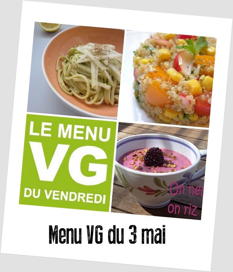 menu VG du 3 mai