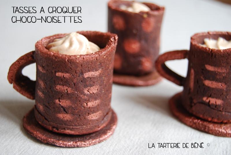 Tasses à croquer choco-noisettes