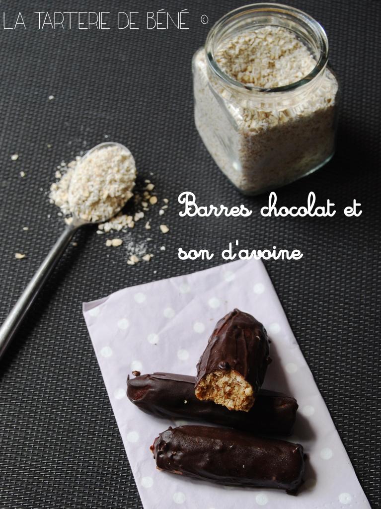 barres de chocolat et son d'avoine wr