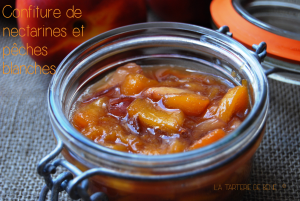 confiture de nectarines et pêches blanches wr