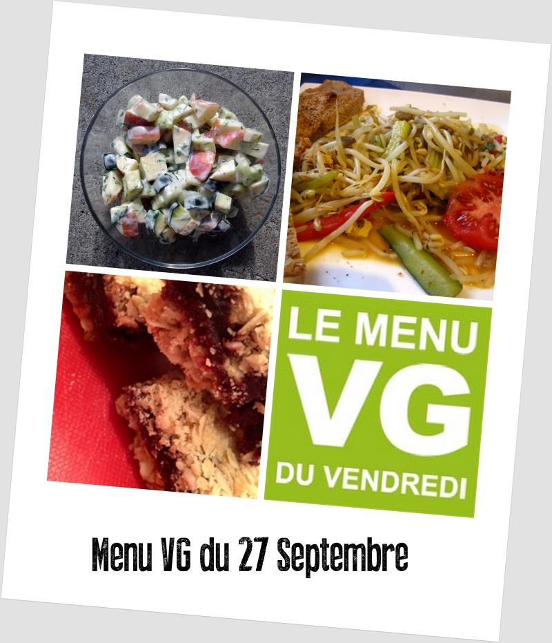 menu VG du 27 septembre