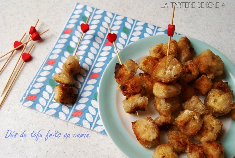 dés de tofu frits au cumin