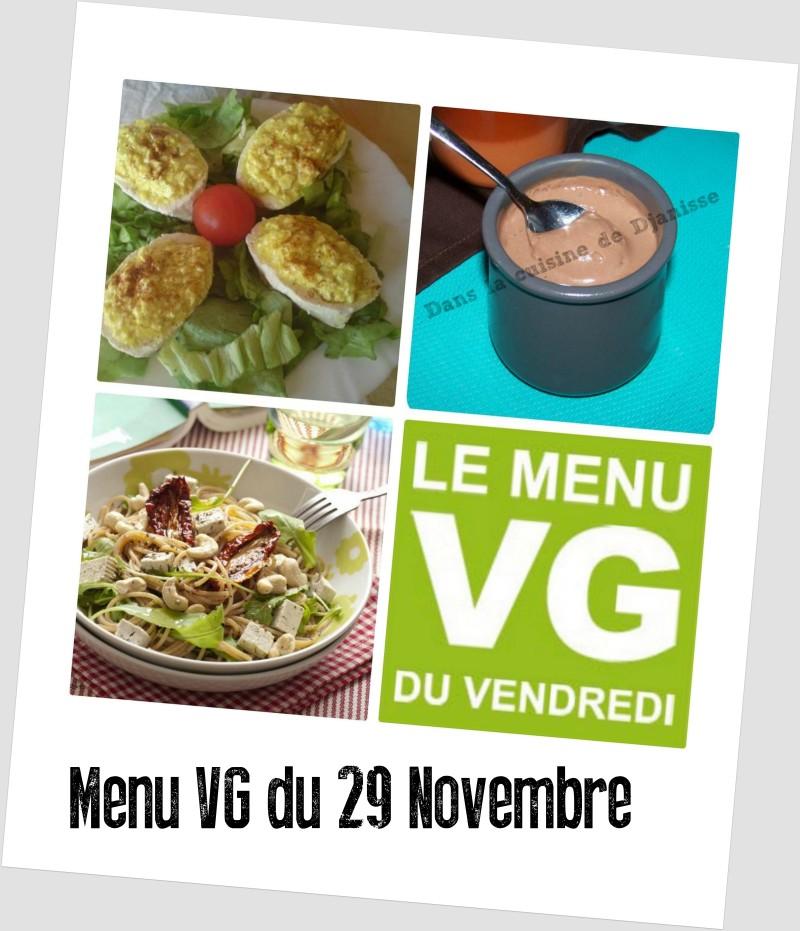 menu VG du 29 novembre