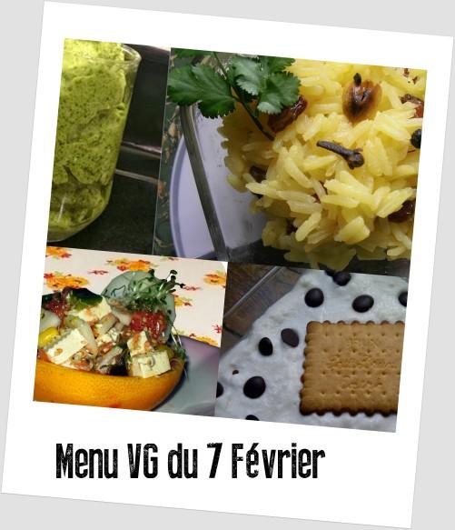 menu VG du 7 février