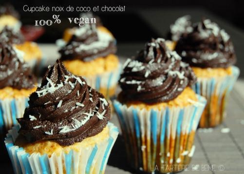 cupcake  noix de coco et chocolat vegan wr
