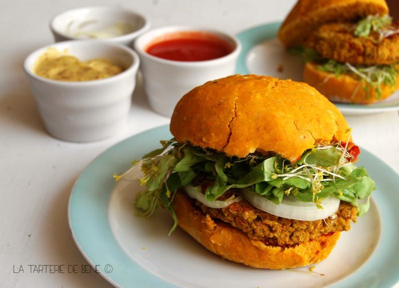 burger indien - gros plan