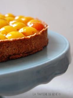 tarte aux mirabelles et crème patissière maison