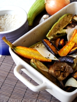 legumes rotis au romarin