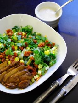 salade multicolore et sauce crémeuse au sésame wr