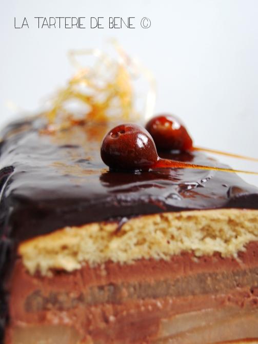 buche de noel chocolat poire