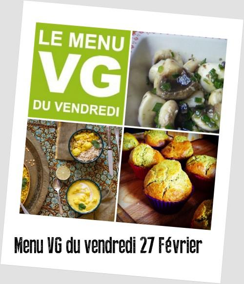 menu VG 27 fevrier