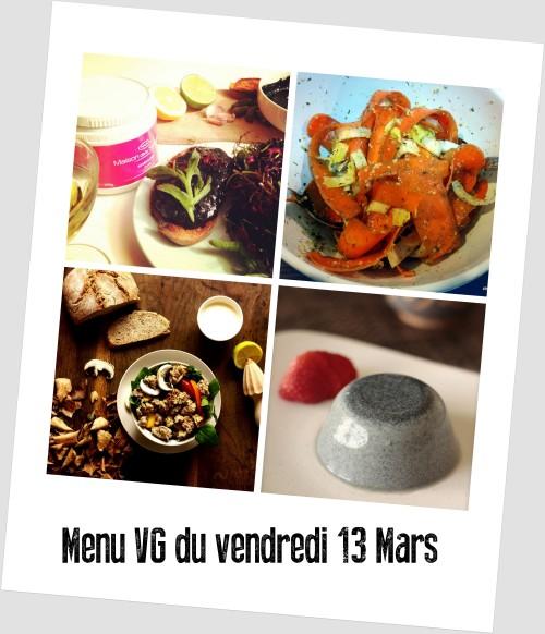 menu VG 13 mars