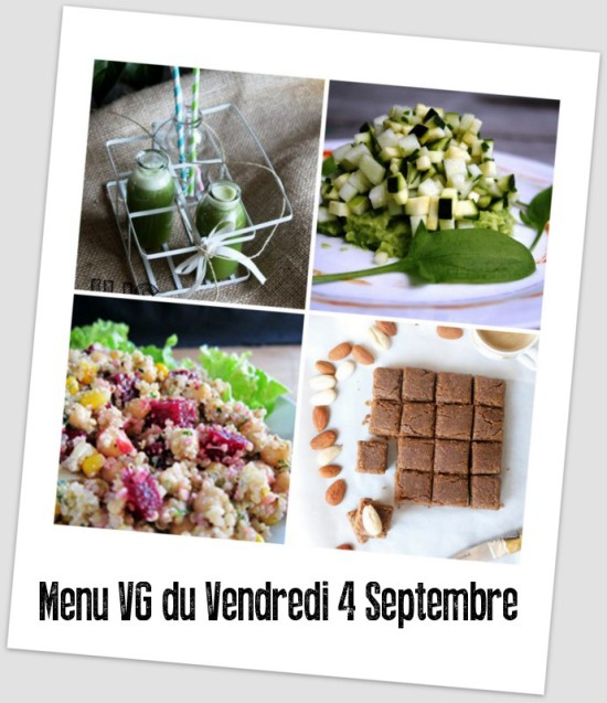 menu du vendredi 4 septembre