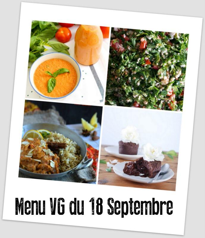 menu VG du 18 septembre