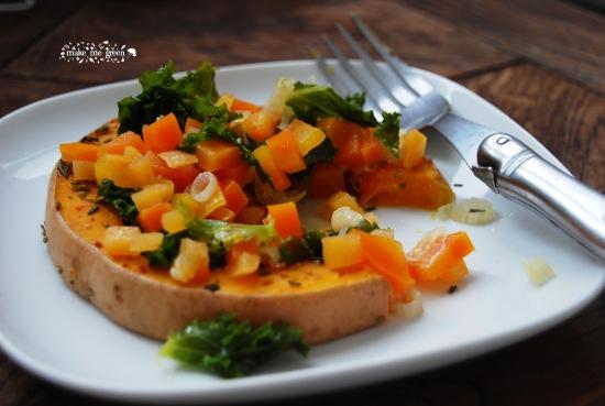 Butternut roti et ses petits légumes d'hiver